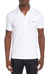 Lacoste Men's Camo Croc Pique Polo White