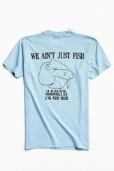 Urban Outfitters Vintage Fish Tee Blue