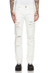 Stampd Distressed Essential Jean In White