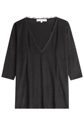Vanessa Bruno Cotton Top With Frayed Trims Black
