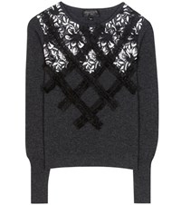 Giambattista Valli Embellished Wool Sweater Black