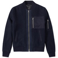 Gant Rugger Wool Bomber Jacket Blue