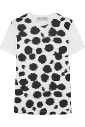 Etre Cecile Cheetah Print Cotton Jersey T Shirt