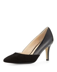 Cole Haan Kyle Suede Leather Pointed Toe Pump Black