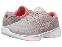 Skechers Go Walk 4 Exceed Taupe Coral Women's Lace Up Casual Shoes
