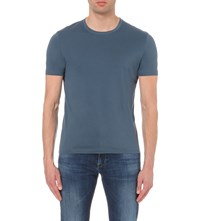 Hugo Boss Slim Fit Cotton Jersey T Shirt Turquoise Aqua