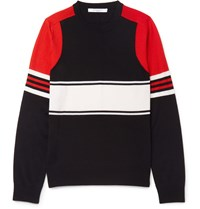 Givenchy Striped Wool Sweater Red