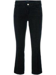 J Brand Flared Cropped Trousers Green