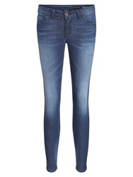 Marc O'polo Skara Cropped Jeans In Cotton Blend Blue