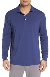 Peter Millar Men's 'Seaside' Long Sleeve Jersey Golf Polo
