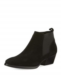 Aquatalia By Marvin K Fionna Weatherproof Suede Bootie Black