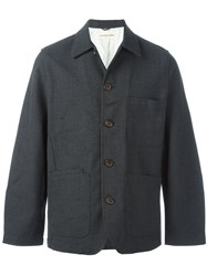 Universal Works 'Bakers' Shirt Jacket Grey