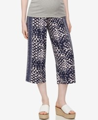 A Pea In The Pod Maternity Cropped Wide Leg Pants Print