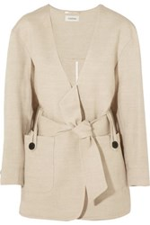 Toteme Innsbruck Linen And Cotton Blend Jacket Beige