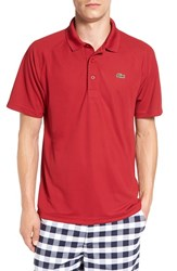 Lacoste Men's 'Sport' Raglan Ultra Dry Performance Polo Lacquer Red