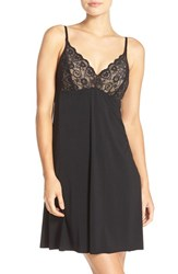 Commando Women's 'Butter' Lace And Stretch Modal Chemise Midnight