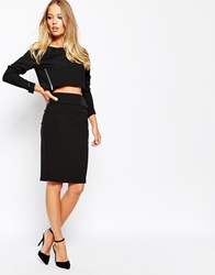 Supertrash Salty Pencil Skirt With Buckle Detail Black