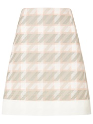 Boss Logo Boss Dogtooth Skirt Pink