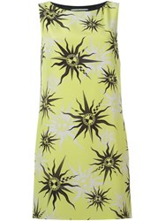 Fausto Puglisi Sun Print Panelled Dress Yellow And Orange