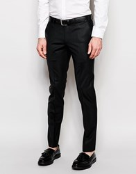 Noose And Monkey Trousers With Stretch In Skinny Fit Black