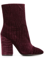 Ash Ankle Boots Pink Purple