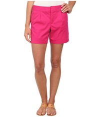 Dockers Pleated Front Shorts Fuchsia Purple Women's Shorts Pink