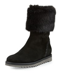 Aquatalia By Marvin K Paulette Faux Fur Lined Boot Black