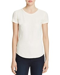 Majestic Filatures Perforated Leather Front Tee Milk