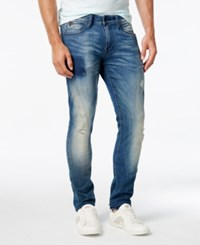Guess Men's Tapered Jeans Cactus Wash Destroy