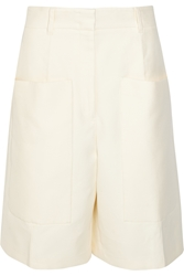 Jil Sander Tancredi Cotton Twill Wide Leg Shorts