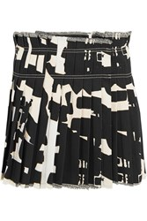 Isabel Marant Kib Printed Denim Mini Skirt Black
