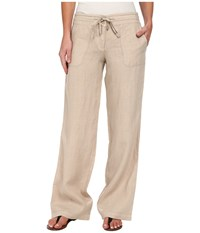 Tommy Bahama Two Palms Drawstring Pants Twill Women's Casual Pants Taupe