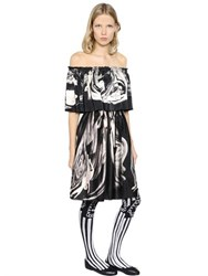 Claire Barrow Ruffled And Printed Satin Dress