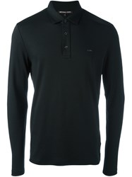 Michael Kors Longsleeved Polo Shirt Black