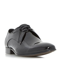 Dune Runner Patent Pointed Toe Gibson Shoes Black