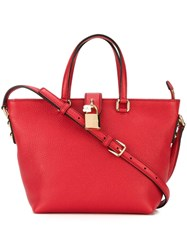 Dolce And Gabbana Small Trapeze Tote Red