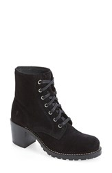 Frye Women's 'Sabrina' Lace Up Bootie Black Oiled Suede
