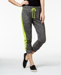 Material Girl Active Juniors' Colorblocked French Terry Sweatpants Only At Macy's Limearita