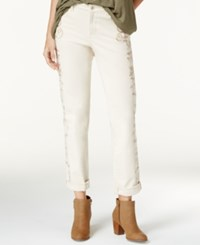 Styleandco. Style Co. Embroidered Vintage Pearl Wash Boyfriend Jeans Only At Macy's