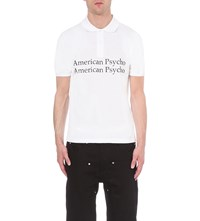 Hood By Air American Psycho Cotton Pique Polo Shirt White