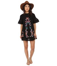 Free People Victorian Mini Dress Black Women's Dress