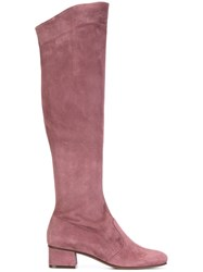 L'autre Chose Zip Up Boots Pink And Purple
