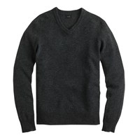J.Crew Tall Lambswool V Neck Sweater Hthr Carbon