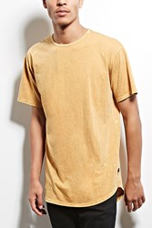 Forever 21 Weive Bleach Oil Wash Tee Mustard