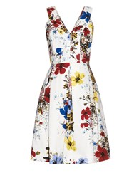 Erdem Floral Print Cotton Canvas Dress