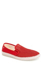 Men's Rivieras 'Classic' Slip On Rouge Red