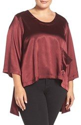 Melissa Mccarthy Seven7 Plus Size Women's Charmeuse High Low One Pocket Tee