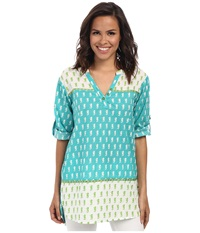 Hatley Classic Taped Tunic Tide Seahorses Women's Clothing Green