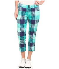 Loudmouth Golf Freeport Capris Mint Women's Capri Green