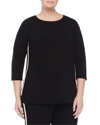 Marina Rinaldi Fascia 3 4 Sleeve Comfort Top W Piping Women's